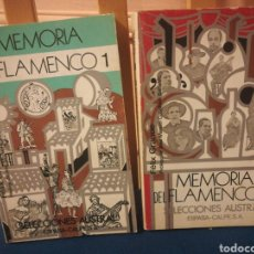 Catálogos de Música: MEMORIAS DEL FLAMENCO DOS TOMOS ESPASA CALPE 1979. Lote 198053448