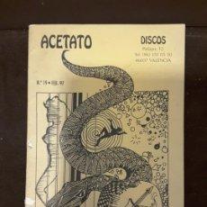 Catálogos de Música: ACETATO DISCOS N° 19 VALENCIA COMPRA VENTA LP CATALOGO . Lote 198421643
