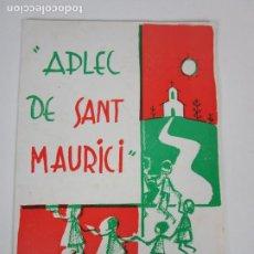Catálogos de Música: CATÁLOGO APLEC DE SANT MAURICI (BANYOLES) - COBLA LA PRINCIPAL DE LA GARROTXA - 1967. Lote 202253652