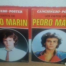 Catálogos de Música: 2 CANCIONERO PÓSTER LOS ÉXITOS DE PEDRO MARÍN. Lote 202448697