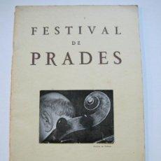 Catálogos de Música: FESTIVAL DE PRADES-PAU CASALS-REVISTA PROGRAMA AÑO 1962-FOTOS & PUBLICIDAD-VER FOTOS-(V-19.775). Lote 202588831