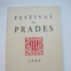 Cataloghi di Musica: FESTIVAL DE PRADES-REVISTA PROGRAMA AÑO 1960-FOTOS & PUBLICIDAD-VER FOTOS-(V-19.777). Lote 202589450