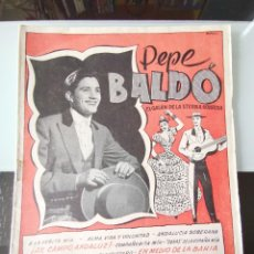 Catálogos de Música: CANCIONERO PEPE BALDÓ - EL GALÁN DE LA ETERNA SONRISA - EDICIONES BISTAGNE. Lote 202618051