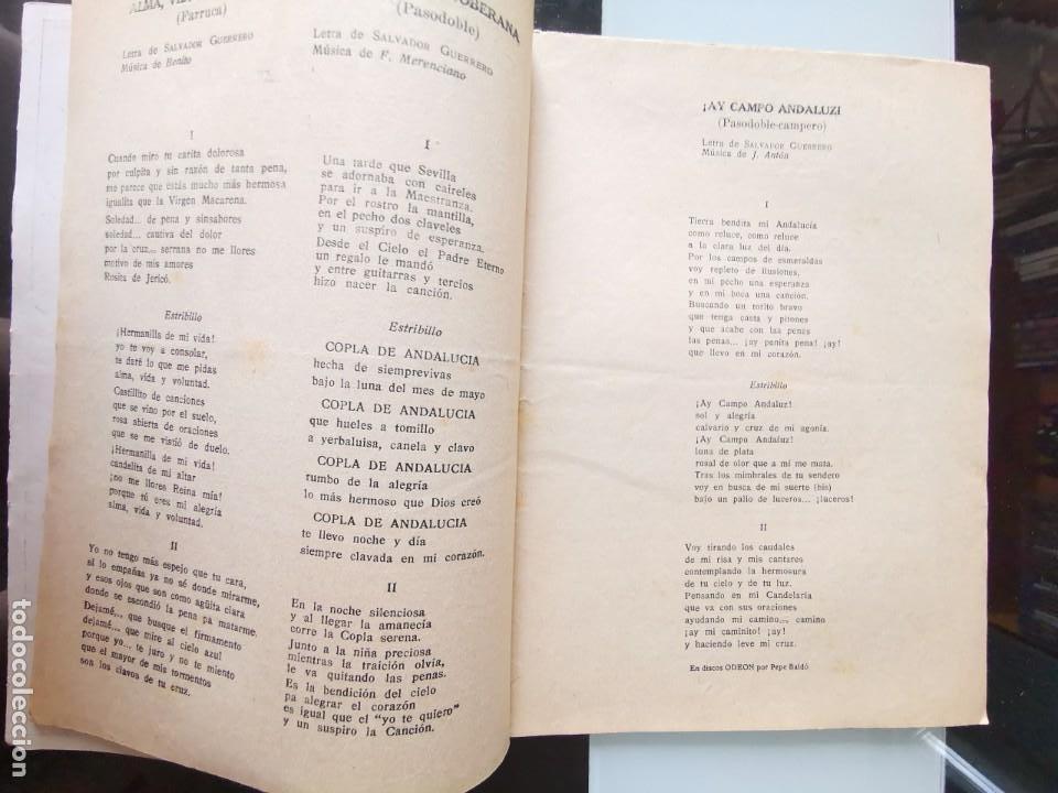 Catálogos de Música: CANCIONERO PEPE BALDÓ - EL GALÁN DE LA ETERNA SONRISA - EDICIONES BISTAGNE - Foto 3 - 202618051