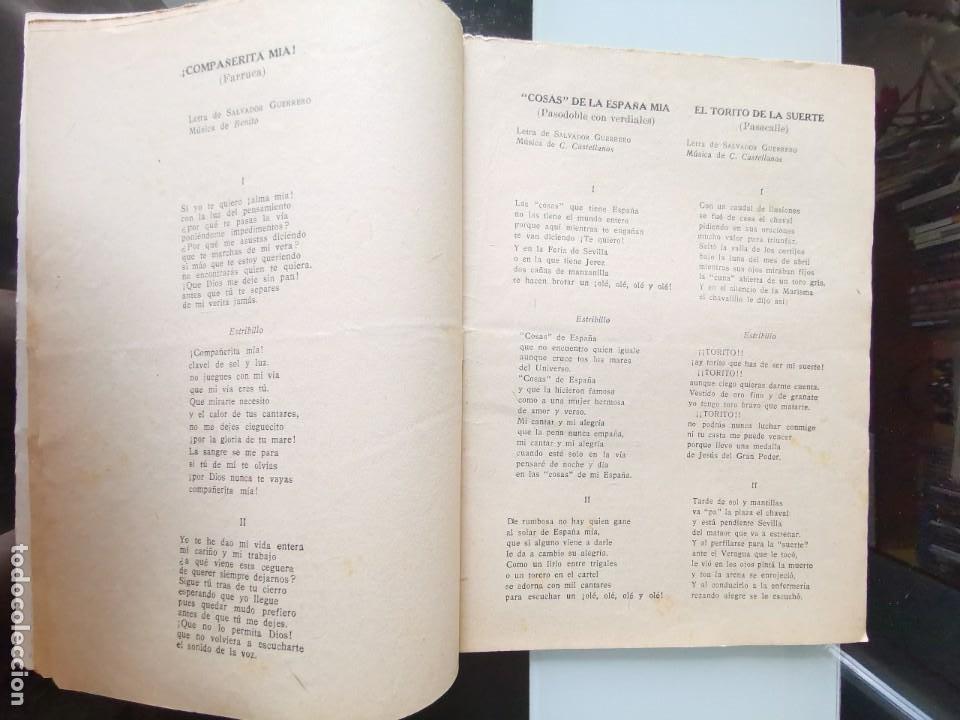 Catálogos de Música: CANCIONERO PEPE BALDÓ - EL GALÁN DE LA ETERNA SONRISA - EDICIONES BISTAGNE - Foto 4 - 202618051