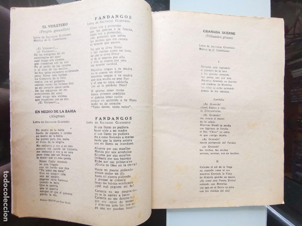 Catálogos de Música: CANCIONERO PEPE BALDÓ - EL GALÁN DE LA ETERNA SONRISA - EDICIONES BISTAGNE - Foto 5 - 202618051