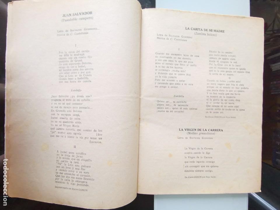 Catálogos de Música: CANCIONERO PEPE BALDÓ - EL GALÁN DE LA ETERNA SONRISA - EDICIONES BISTAGNE - Foto 6 - 202618051
