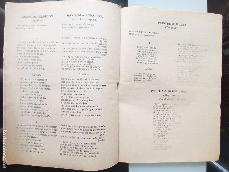 Catálogos de Música: CANCIONERO PEPE BALDÓ - EL GALÁN DE LA ETERNA SONRISA - EDICIONES BISTAGNE - Foto 7 - 202618051