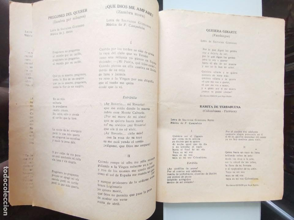 Catálogos de Música: CANCIONERO PEPE BALDÓ - EL GALÁN DE LA ETERNA SONRISA - EDICIONES BISTAGNE - Foto 8 - 202618051