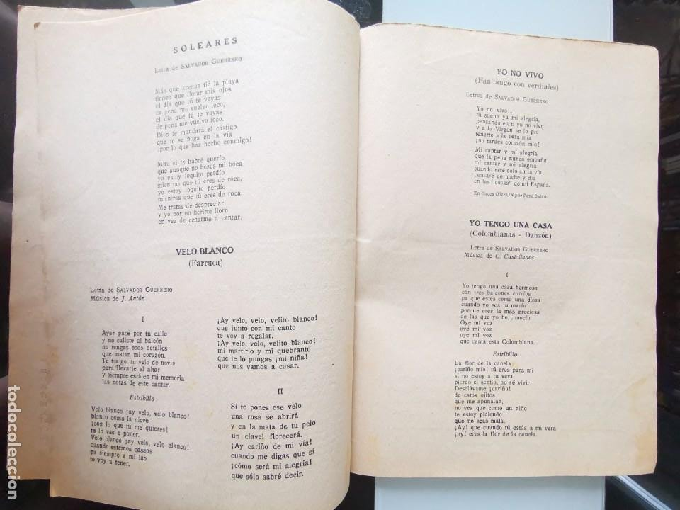 Catálogos de Música: CANCIONERO PEPE BALDÓ - EL GALÁN DE LA ETERNA SONRISA - EDICIONES BISTAGNE - Foto 9 - 202618051
