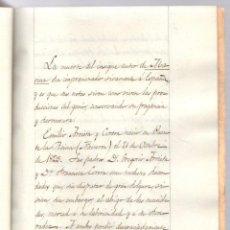 Catálogos de Música: NEGROLOGIA MANUSCRITA DEL COMPOSITOR NAVARRO EMILIO DE ARRIETA CORERA. 1894. Lote 203248895