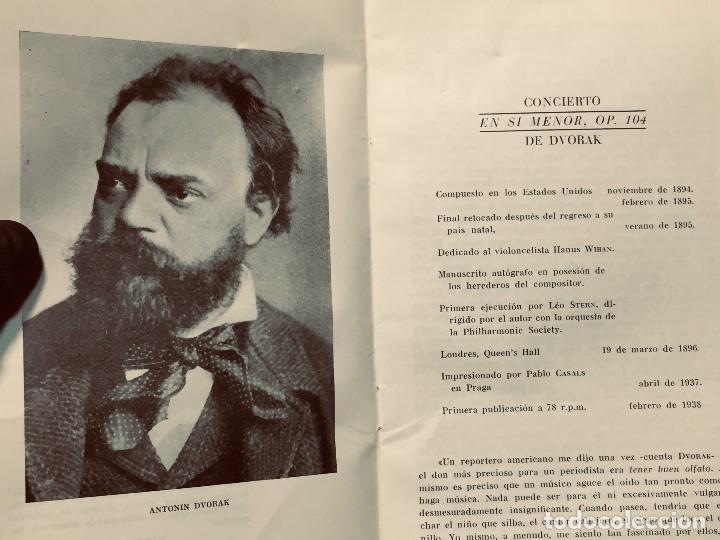 Catálogos de Música: GRABACIONES ILUSTRES PABLO CASALS 1966 DVORAK CONCIERTO SI MENOR OP 104 22X13,5CMS - Foto 3 - 203838176