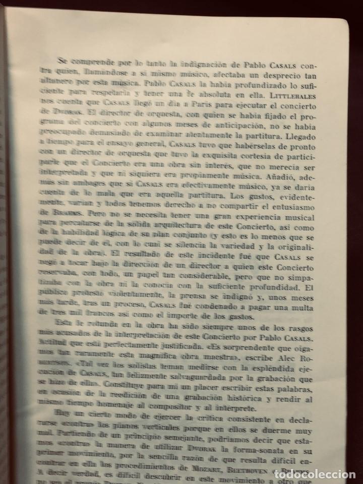 Catálogos de Música: GRABACIONES ILUSTRES PABLO CASALS 1966 DVORAK CONCIERTO SI MENOR OP 104 22X13,5CMS - Foto 4 - 203838176