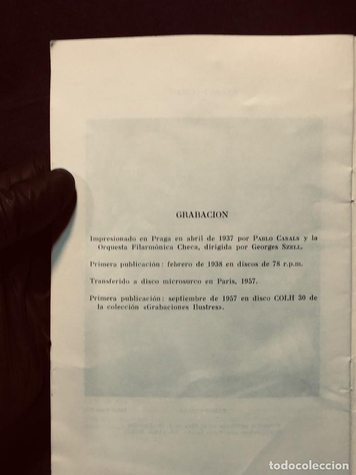 Catálogos de Música: GRABACIONES ILUSTRES PABLO CASALS 1966 DVORAK CONCIERTO SI MENOR OP 104 22X13,5CMS - Foto 6 - 203838176