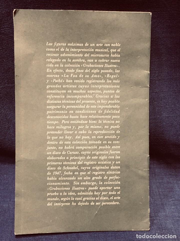 Catálogos de Música: GRABACIONES ILUSTRES PABLO CASALS 1966 DVORAK CONCIERTO SI MENOR OP 104 22X13,5CMS - Foto 8 - 203838176