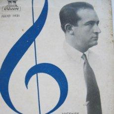 Catálogos de Música: DISCOS ODEON-VICENTE SEMPERE-MICKEY MOUSE-AÑO 1931-CATALOGO PUBLICIDAD-VER FOTOS-(V-19.977). Lote 204086053