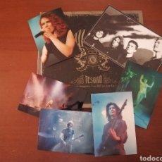 Catálogos de Música: LOTE HÉROES DEL SILENCIO BUNBURY TESORO CON DVD + POSTAL + 5 FOTOS. Lote 204316140