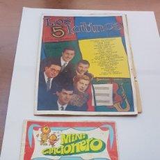 Catálogos de Música: DOS CANCIONEROS FÓRMULA V Y LOS 5 LATINOS. Lote 204535796