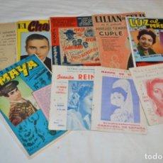 Catálogos de Música: 9 CANCIONEROS AÑOS 50 / 60 - MARIFÉ DE TRIANA, JUANITA REINA, PEPE BLANCO, PEPE PINTO, ETC..LOTE 01. Lote 205301500