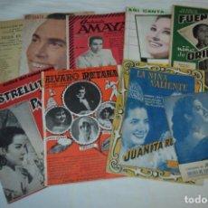 Catálogos de Música: 9 CANCIONEROS AÑOS 50 / 60 - M. DE TRIANA, JUANITA REINA, A. AMAYA, ENRIQUE MONTOYA, ETC.. LOTE 02. Lote 205305902