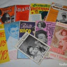 Catálogos de Música: 9 CANCIONEROS AÑOS 50 / 60 - SARITA MONTIEL, LOLA FLORES, RAFAEL FARINA, J. REINA, ETC.. LOTE 03. Lote 205307507