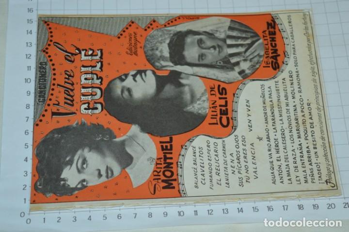 Catálogos de Música: 9 Cancioneros AÑOS 50 / 60 - Sarita Montiel, Lola Flores, Rafael Farina, J. Reina, etc.. LOTE 03 - Foto 2 - 205307507