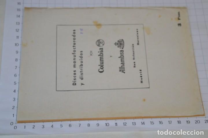 Catálogos de Música: 9 Cancioneros AÑOS 50 / 60 - Sarita Montiel, Lola Flores, Rafael Farina, J. Reina, etc.. LOTE 03 - Foto 3 - 205307507