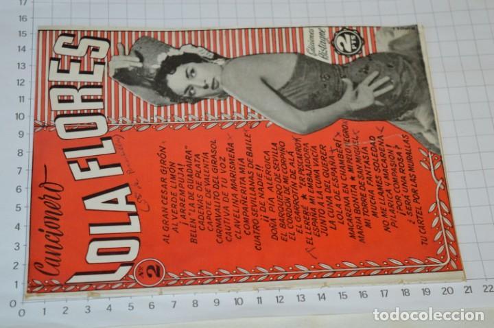 Catálogos de Música: 9 Cancioneros AÑOS 50 / 60 - Sarita Montiel, Lola Flores, Rafael Farina, J. Reina, etc.. LOTE 03 - Foto 4 - 205307507