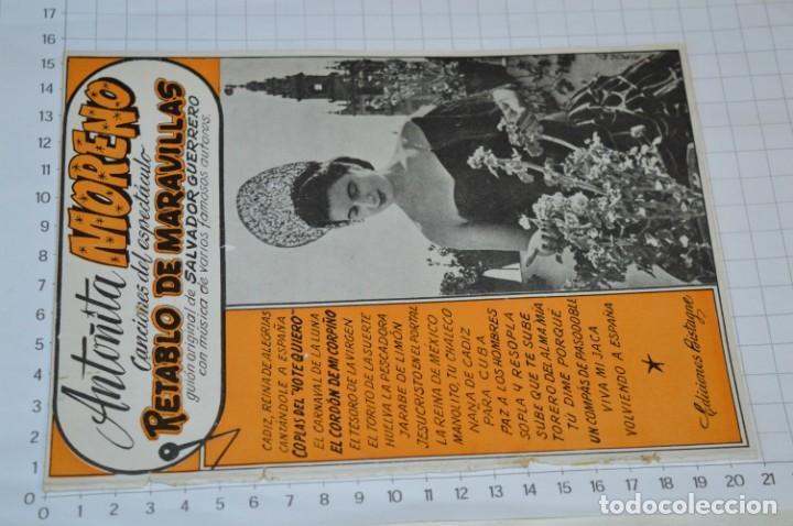 Catálogos de Música: 9 Cancioneros AÑOS 50 / 60 - Sarita Montiel, Lola Flores, Rafael Farina, J. Reina, etc.. LOTE 03 - Foto 8 - 205307507