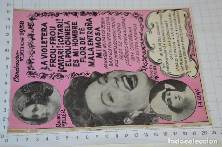 Catálogos de Música: 9 Cancioneros AÑOS 50 / 60 - Sarita Montiel, Lola Flores, Rafael Farina, J. Reina, etc.. LOTE 03 - Foto 14 - 205307507