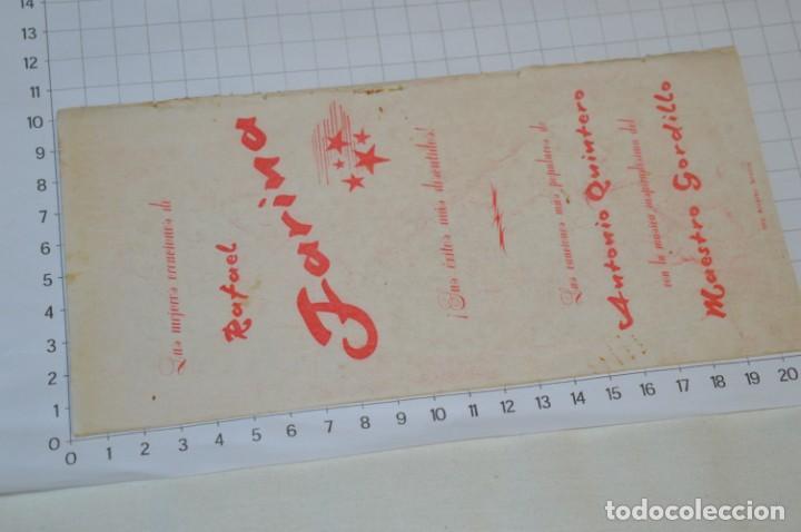 Catálogos de Música: 9 Cancioneros AÑOS 50 / 60 - Sarita Montiel, Lola Flores, Rafael Farina, J. Reina, etc.. LOTE 03 - Foto 17 - 205307507
