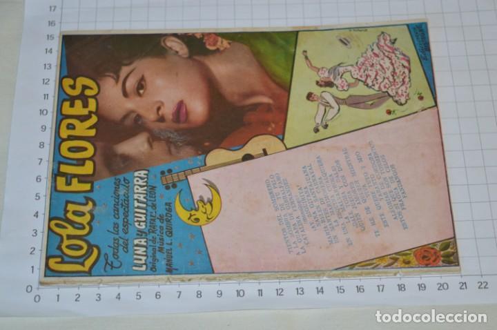 Catálogos de Música: 9 Cancioneros AÑOS 50 / 60 - Sarita Montiel, Lola Flores, C. Morell, Pepe Blanco, etc.. LOTE 04 - Foto 2 - 205309220