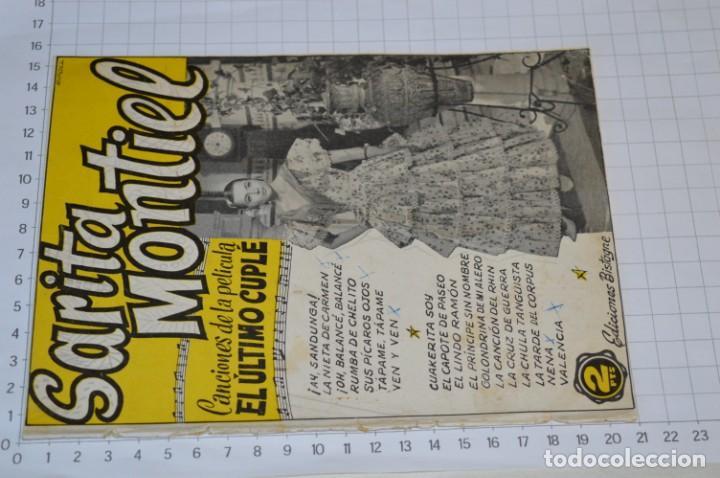 Catálogos de Música: 9 Cancioneros AÑOS 50 / 60 - Sarita Montiel, Lola Flores, C. Morell, Pepe Blanco, etc.. LOTE 04 - Foto 4 - 205309220