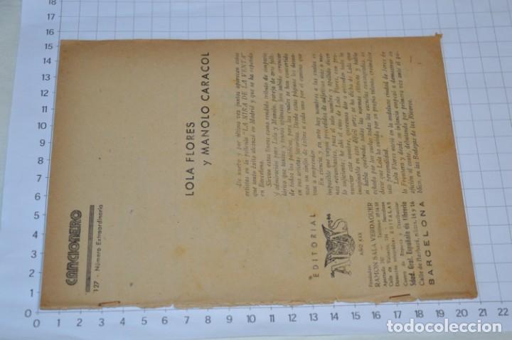 Catálogos de Música: 9 Cancioneros AÑOS 50 / 60 - Sarita Montiel, Lola Flores, C. Morell, Pepe Blanco, etc.. LOTE 04 - Foto 6 - 205309220