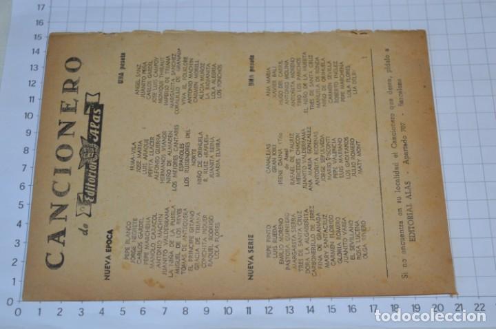 Catálogos de Música: 9 Cancioneros AÑOS 50 / 60 - Sarita Montiel, Lola Flores, C. Morell, Pepe Blanco, etc.. LOTE 04 - Foto 7 - 205309220