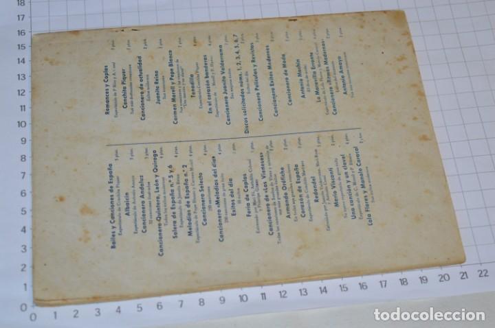Catálogos de Música: 9 Cancioneros AÑOS 50 / 60 - Sarita Montiel, Lola Flores, C. Morell, Pepe Blanco, etc.. LOTE 04 - Foto 11 - 205309220