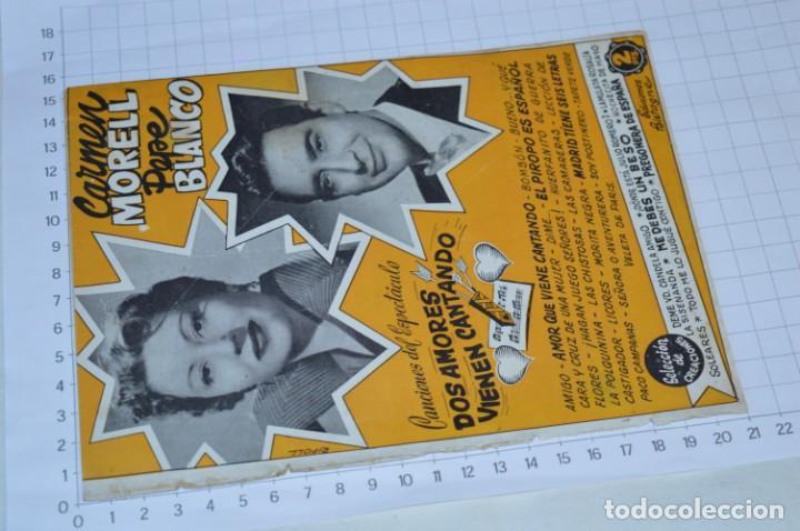Catálogos de Música: 9 Cancioneros AÑOS 50 / 60 - Sarita Montiel, Lola Flores, C. Morell, Pepe Blanco, etc.. LOTE 04 - Foto 16 - 205309220
