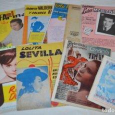 Catálogos de Música: 9 CANCIONEROS AÑOS 50 / 60 - ROCIO DURCAL, LOLA FLORES, LUIS MARIANO, R. FARINA, ETC.. LOTE 05. Lote 205311255