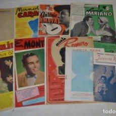 Catálogos de Música: 9 CANCIONEROS AÑOS 50 / 60 - MANOLO CARACOL, ANTONIO AMAYA, LUIS MARIANO, E. MONTOYA, ETC.. LOTE 06. Lote 205313087