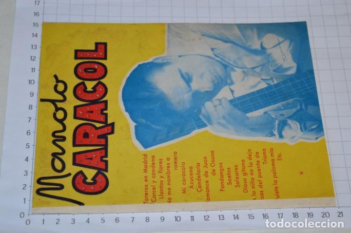 Catálogos de Música: 9 Cancioneros AÑOS 50 / 60 - Manolo Caracol, Antonio Amaya, Luis Mariano, E. Montoya, etc.. LOTE 06 - Foto 10 - 205313087