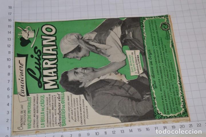Catálogos de Música: 9 Cancioneros AÑOS 50 / 60 - Manolo Caracol, Antonio Amaya, Luis Mariano, E. Montoya, etc.. LOTE 06 - Foto 12 - 205313087