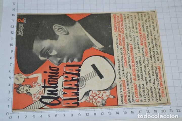 Catálogos de Música: 9 Cancioneros AÑOS 50 / 60 - Manolo Caracol, Antonio Amaya, Luis Mariano, E. Montoya, etc.. LOTE 06 - Foto 14 - 205313087