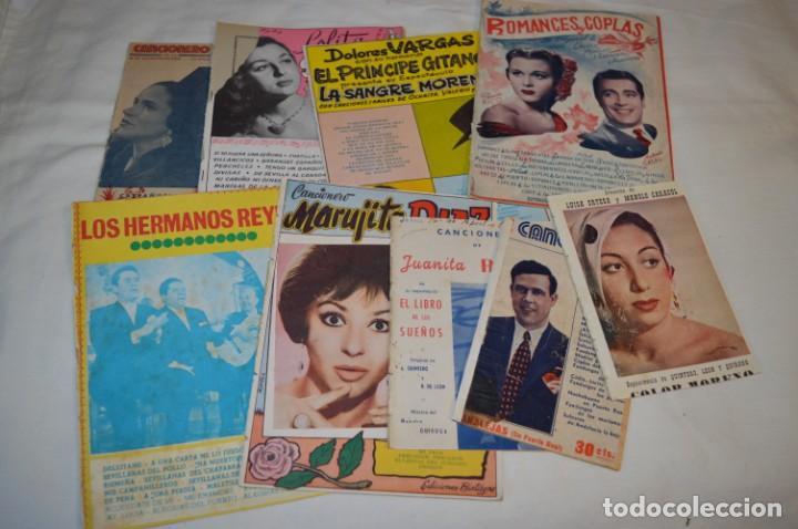 9 CANCIONEROS AÑOS 50 / 60 - MARUJITA DIAZ, DOLORES VARGAS, GRACIA DE TRIANA, ETC.. LOTE 07 (Música - Catálogos de Música, Libros y Cancioneros)