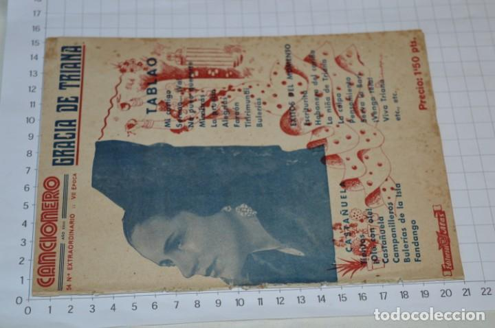 Catálogos de Música: 9 Cancioneros AÑOS 50 / 60 - Marujita Diaz, Dolores Vargas, Gracia de Triana, etc.. LOTE 07 - Foto 2 - 205314820