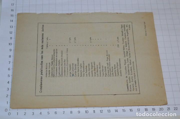 Catálogos de Música: 9 Cancioneros AÑOS 50 / 60 - Marujita Diaz, Dolores Vargas, Gracia de Triana, etc.. LOTE 07 - Foto 5 - 205314820