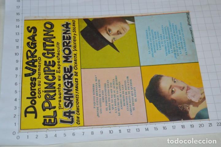 Catálogos de Música: 9 Cancioneros AÑOS 50 / 60 - Marujita Diaz, Dolores Vargas, Gracia de Triana, etc.. LOTE 07 - Foto 6 - 205314820