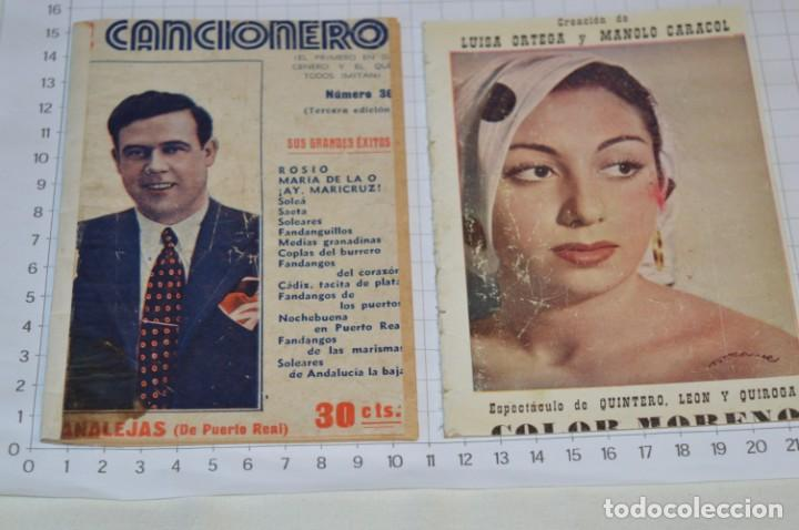 Catálogos de Música: 9 Cancioneros AÑOS 50 / 60 - Marujita Diaz, Dolores Vargas, Gracia de Triana, etc.. LOTE 07 - Foto 16 - 205314820