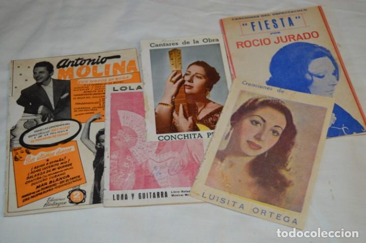 05 CANCIONEROS ANTIGUOS - ANTONIO MOLINA, LOLA FLORES, CONCHITA PIQUER, ETC ..LOTE 08 ¡¡MIRA FOTOS!! (Música - Catálogos de Música, Libros y Cancioneros)