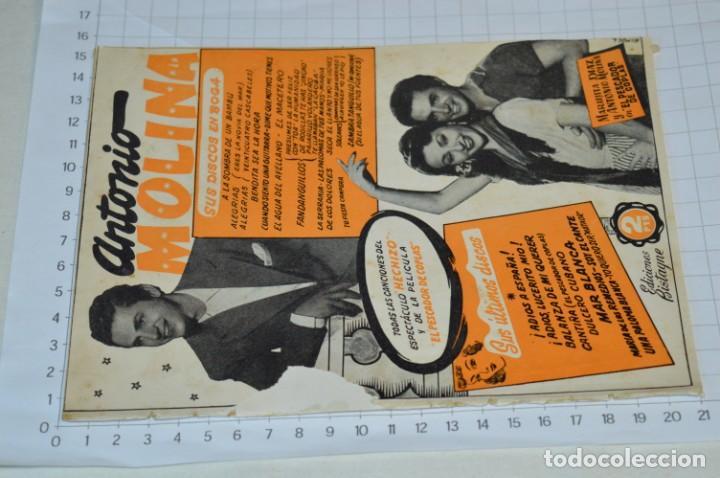 Catálogos de Música: 05 Cancioneros ANTIGUOS - Antonio Molina, Lola Flores, Conchita Piquer, etc ..LOTE 08 ¡¡Mira fotos!! - Foto 2 - 205316402