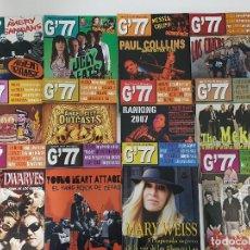 Catálogos de Música: LOTE G'77 REVISTA DE GRUTA' 77 2007-2008 12 NÚMEROS ENTRE MAYO 2007 Y JUNIO 2008. FANZINE. Lote 205523203